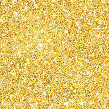 Seamless gold glitter texture isolated on golden background.