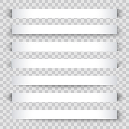 side effect: Set of blank banner sheet of paper with shadow material design element for advertising and promotional isolated on transparent background.