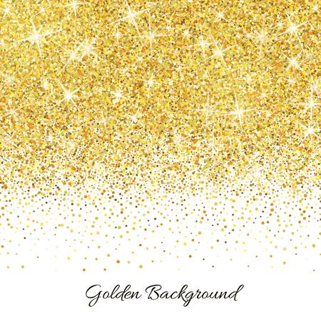 Goud glitter textuur geïsoleerd op een witte achtergrond.