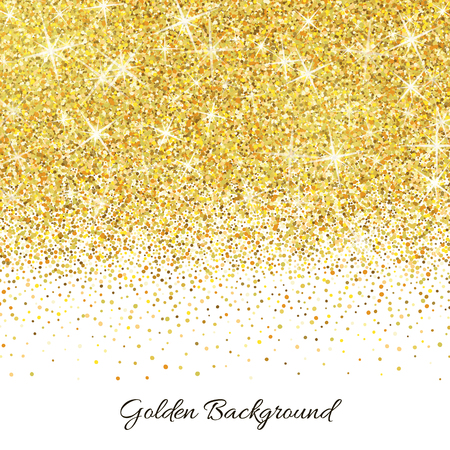 Gold glitter texture isolated on white background.