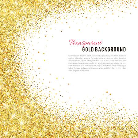 Scintillio dell'oro texture isolato su sfondo bianco. Archivio Fotografico - 53983297