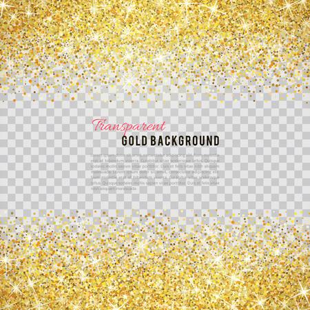 leuchtend: Gold-Glitter Textur auf transparentem Hintergrund.
