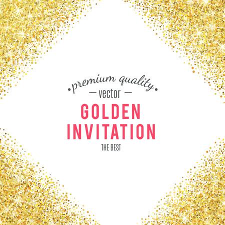 Gold-Glitter-Textur auf weißem Hintergrund. Standard-Bild - 53983355