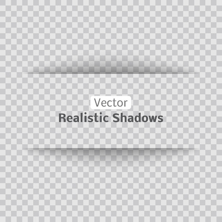 Blank banner sheet of paper with shadow material design element for advertising and promotional isolated on transparent background.
