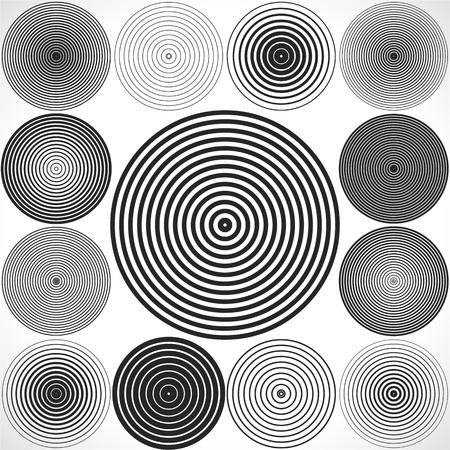 sonido: Conjunto de elementos del círculo concéntricos. Vectores