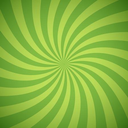Wervelende radiaal patroon achtergrond. Vector illustratie voor het swirl design. Vortex starburst spiraal twirl plein. Helix rotatie stralen. Convergerende psychadelic schaalbare strepen. Leuke zon lichtstralen. Stock Illustratie