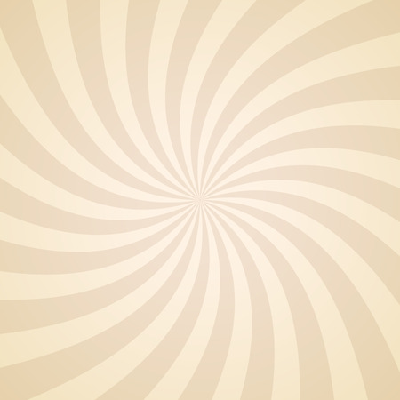 vector background: Swirling radial pattern background. Vector illustration for swirl design. Vortex starburst spiral twirl square. Helix rotation rays. Converging psychadelic scalable stripes. Fun sun light beams.