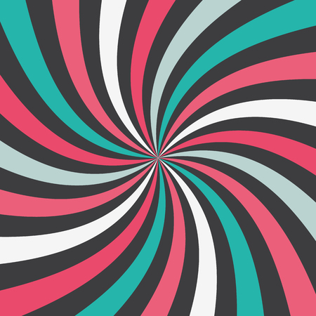 Swirling radial pattern background.