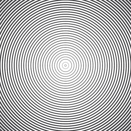 radio station: Concentric circle elements. Vector illustration for sound wave. Black and white color ring. Circle spin target. Radio station signal. Center minimal radial ripple line outline abstractionism Illustration