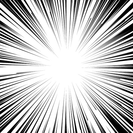 Abstract comic book flash explosion radial lines background. Ilustração