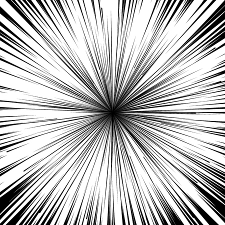 light beams: Abstract comic book flash explosion radial lines background. Illustration