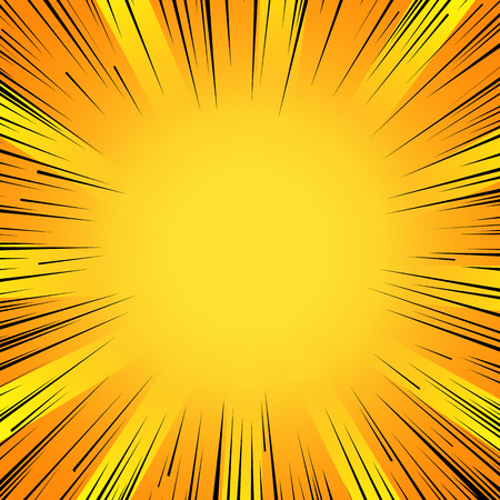 Abstract comic book flash explosion radial lines background. Vettoriali