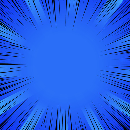 Abstract comic book flash explosion radial lines background. Ilustrace