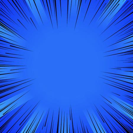 Résumé de bande dessinée éclair lignes radiales explosion fond. Banque d'images - 53985422