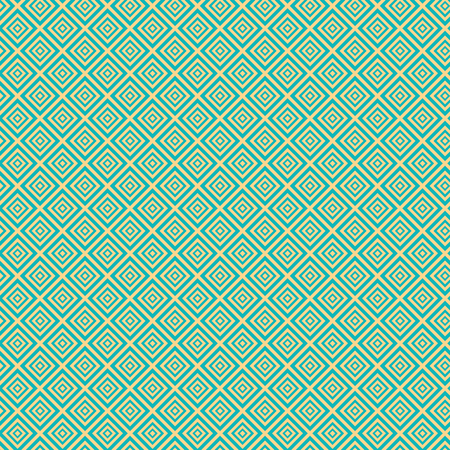 room accent: Vintage turquiose seamless pattern. Vector illustration. Endless texture for wallpaper, fill, web page background, surface texture. Shabby geometric ornament. Illustration