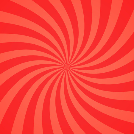 curl whirlpool: Swirling radial pattern background. Vector illustration for swirl design. Vortex starburst spiral twirl square. Helix rotation rays. Converging psychadelic scalable stripes. Fun sun light beams.