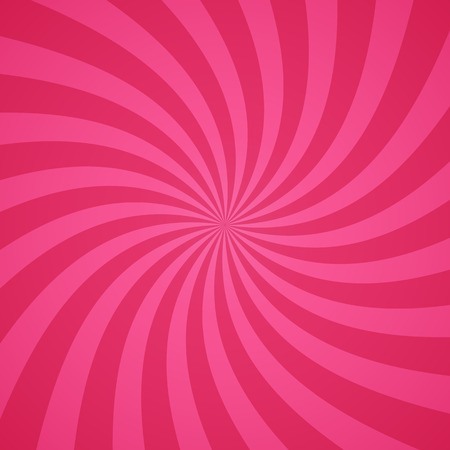 converging: Swirling radial pattern background. Vector illustration for cute pretty circus design. Vortex starburst spiral twirl square. Helix rotation rays. Converging pink scalable stripes. Fun sun light beams.