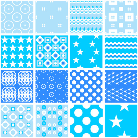 16 Cute Blue Seamless Patterns Endless Texture For Wallpaper Fill Web Page Background