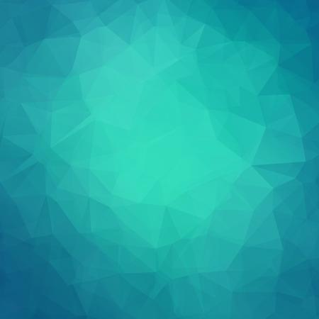 Résumé sarcelle triangle géométrique fond. Vector illustration pour la conception moderne. couleurs bleu vert. Aqua cristaux de glace d'eau. affiche Bright. Décoratif graphique texture de la mosaïque. fond d'écran rétro. Vecteurs