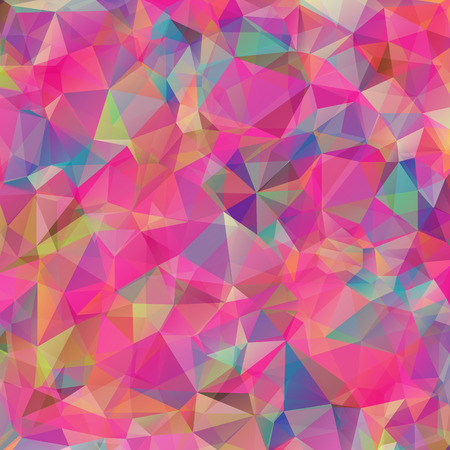 aqua background: Abstract colorful geometric triangle background. Vector illustration for modern design. Aqua water ice crystal. Bright poster. Decorative graphic mosaic texture. Retro wallpaper. Illustration