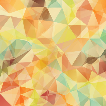 ice crystal: Abstract retro geometric triangle background. Vector illustration for modern design. Vintage colors. Aqua water ice crystal. Bright poster. Decorative graphic mosaic texture. Retro wallpaper. Illustration