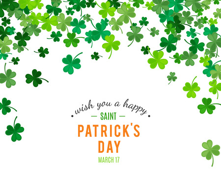 natural arch: St Patricks Day background. illustration for luck spring design with shamrock. Green clover border and top arch frame isolated on white background. Ireland symbol pattern. Irish header for web