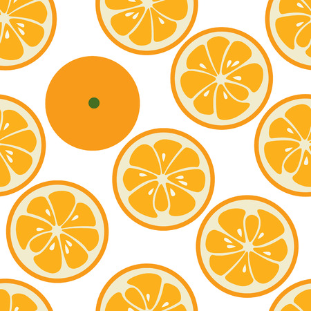 orange slices: Cute seamless pattern with orange slices. Tasty summer background. Yummy tropical fruits endless texture. Can be used for wallpapers, banners, posters. Delicious healthy fruits. illustration