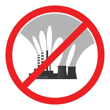residuos toxicos: Pare la muestra de la contaminaci�n del aire. Ilustraci�n conceptual que muestra el humo contaminado de una chimenea de la f�brica sobre una ciudad. Desastre ecol�gico. el smog City. Residuos t�xicos. Protecci�n del medio ambiente