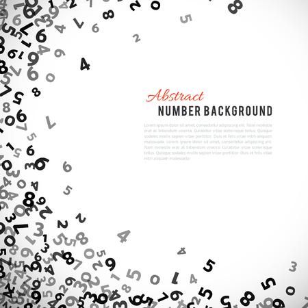 Resumen De Fondo Número Matemáticas. Ilustración Del Vector Para El ...