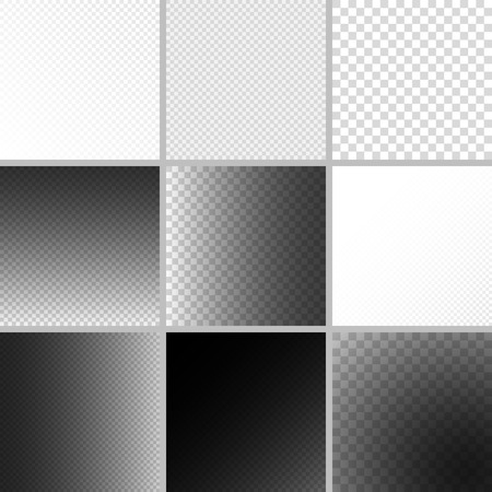 Set of editable background for transparency image. illustration for modern transparent design. Square seamless pattern in based. White, black and grey colors. Web element collection.