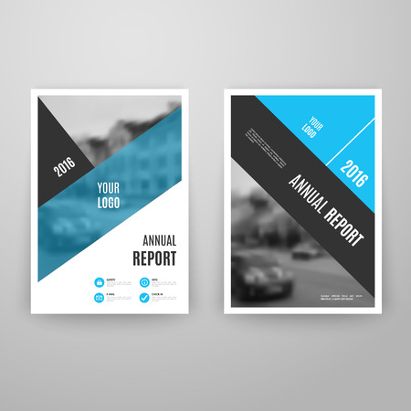 blue book: Abstract blue brochure template with icons. Annual report design. Leaflet flyer cover. A4 size. Book layout. Vector illustration. Business page. Concept graphic magazine. Corporate booklet document.