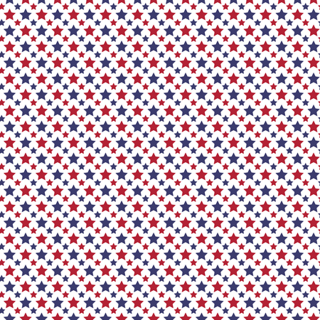 red white blue: Patriotic red, white, blue geometric seamless pattern. Vector illustration with American symbol. USA flag wallpaper. Happy Independence Day 4th of July. Illustration