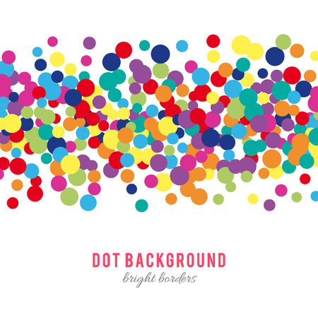 color background: Colorful abstract dot background. illustration for bright design. Circle art round backdrop. Modern pattern decoration. Color texture holiday element wallpaper. Decor fun spot card. Happy mood.