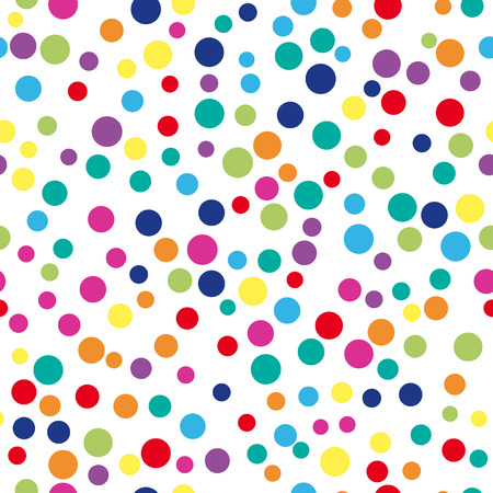 Colorful abstract dot background. illustration for bright design. Circle art round backdrop. Seamless pattern decoration. Color texture holiday element wallpaper. Decor fun spot card Happy mood