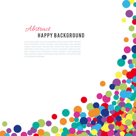 paint drop: Colorful abstract spot background. Vector illustration for bright design. Art splash backdrop. Modern pattern decoration. Color holiday wallpaper. Fun dot card. Happy mood style. Fiesta drop paint