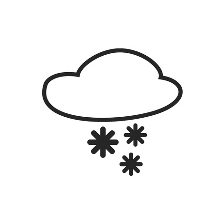 slush: Sleet shower. Day and Night. Heavy snow. Weather forecast icon. Editable element. Creative item. Flat design graphic. Part of series of various symbols and signs for climate changes diagnostic. Vector