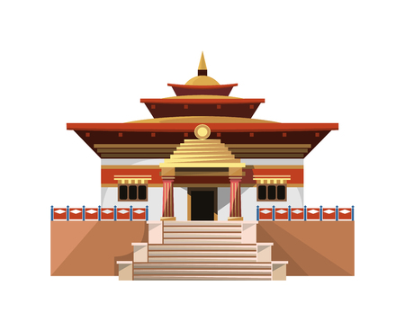 Temple of Heaven icon isolated on white background. Vector illustration for religion design. Ilustracja