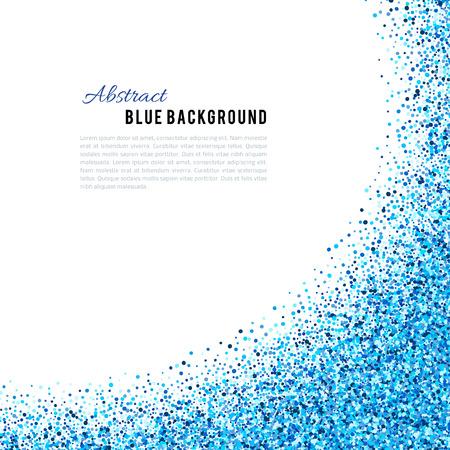 vector de fondo azul abstracto. índigo azul marino confeti cian brillo luminoso. invierno frío helada punto de punto de nieve Ilustración de vector
