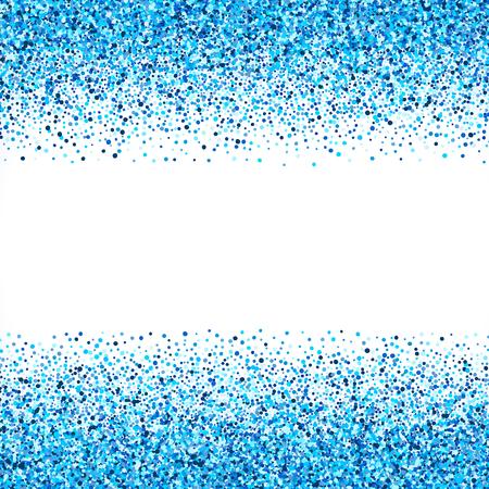 青い抽象ベクトルの背景。明るいネイビー藍シアン キラキラ紙吹雪。冷たい霜冬雪ドット スポット  イラスト・ベクター素材