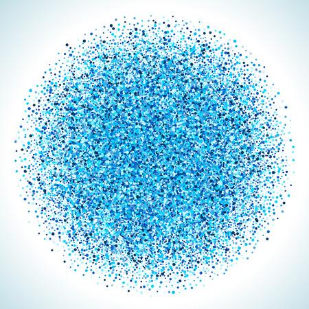 indigo: Abstract blue vector background. Bright navy indigo cyan glitter confetti. Cold frost winter snow dot spot