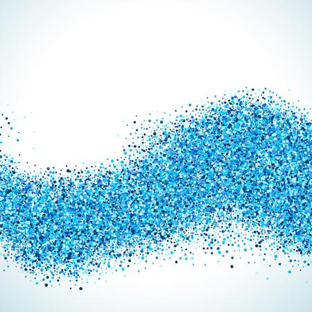 Abstract blue vector background. Bright navy indigo cyan glitter confetti. Cold frost winter snow dot spot