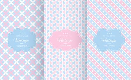 Baby pastel verschillende vector naadloze patronen. Eindeloze textuur kan worden gebruikt voor behang, patroonvullingen, webpagina achtergrond, oppervlakte texturen. Set van leuke abstracte ornamenten.