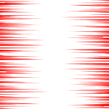 strip design: Abstract comic book speed lines background. Vector illustration for superhero design. Bright red and white light strip burst. Flash ray blast glow. Manga cartoon hero fight