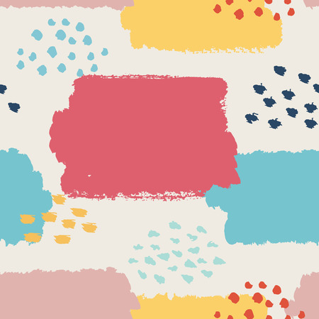 retro postcard: Abstract seamless pattern. illustration for fashion design. Cute repeating background. Hand painted texture. Retro backdrop decoration. Decorative fabric. Brush postcard. Pink and white colors.
