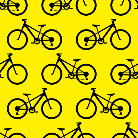 shape silhouette: Retro bike seamless pattern. Vector illustration for bicycle transport design. Bright vehicle pattern. Sport race ride cute wallpaper background. Cartoon silhouette shape. Healthy active leisure