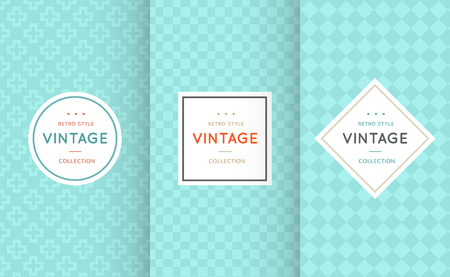 vintage colors: Vintage different vector seamless patterns. Endless texture for wallpaper, fill, web page background, surface texture. Set of monochrome geometric ornament. Blue and white shabby pastel colors.