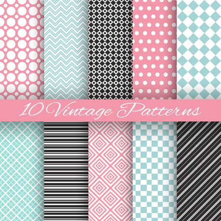 retro pattern: Retro chic seamless pattern Illustration