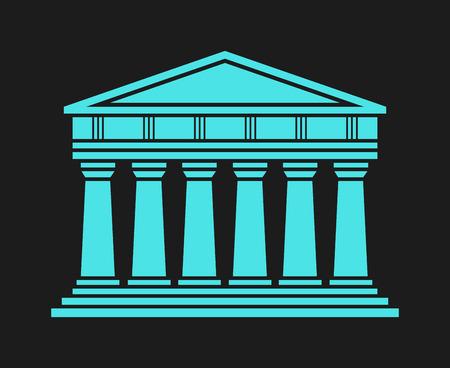 architecture: Architecture greek temple icon
