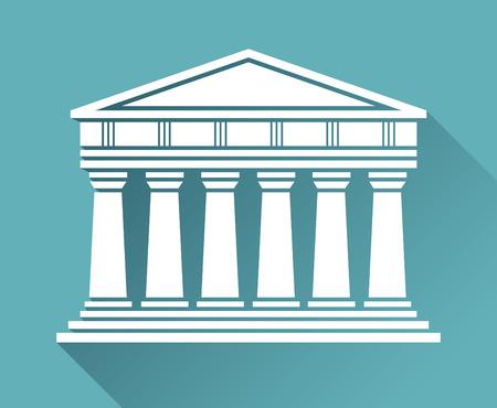 architecture: Architecture greek temple Illustration