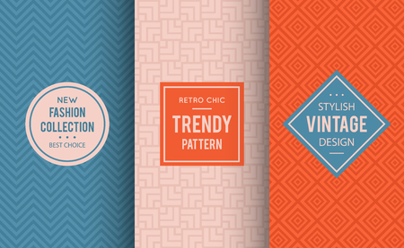 powdery: Pale dogwood seamless pattern. Vector illustration for fashion design. Niagara geometric frame. Stylish decorative label set. Decoration texture wallpaper package. Neutral color combos